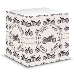 Motorcycle Sticky Note Cube (Personalized)