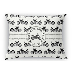 Motorcycle Rectangular Throw Pillow Case (Personalized)