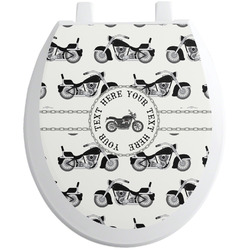 Motorcycle Toilet Seat Decal (Personalized)