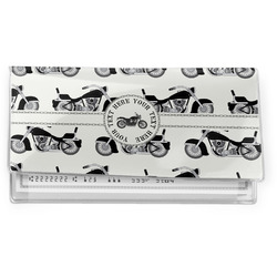 Motorcycle Vinyl Checkbook Cover (Personalized)