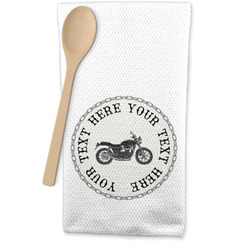 Motorcycle Waffle Weave Kitchen Towel (Personalized)