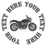 Motorcycle Graphic Decal - Custom Sizes (Personalized)