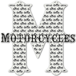 Motorcycle Name & Initial Decal - Custom Sized (Personalized)