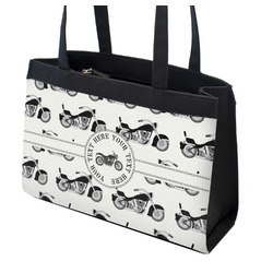 Motorcycle Zippered Everyday Tote (Personalized)