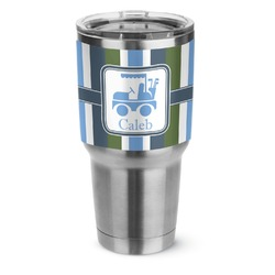 BM Stripes Stainless Steel Tumbler - 30 oz (Personalized)