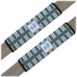 BM Stripes Seat Belt Covers (Set of 2) (Personalized)