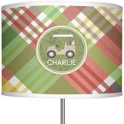 "Golfer's Plaid 13"" Drum Lamp Shade (Personalized)"