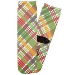 Golfer's Plaid Adult Crew Socks (Personalized)
