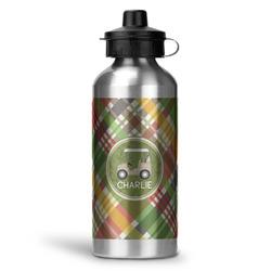 Golfer's Plaid Water Bottle - Aluminum - 20 oz (Personalized)