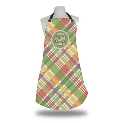 Golfer's Plaid Apron (Personalized)