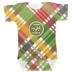 Golfer's Plaid Baby Bodysuit (Personalized)