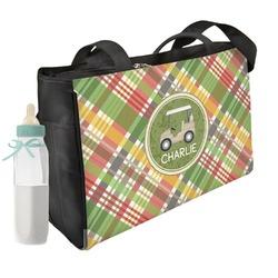 Golfer's Plaid Diaper Bag (Personalized)
