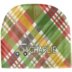 Golfer's Plaid Baby Hat (Beanie) (Personalized)
