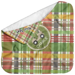 Golfer's Plaid Baby Hooded Towel (Personalized)