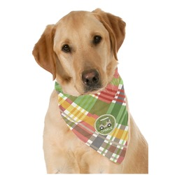 Golfer's Plaid Pet Bandanas (Personalized)