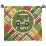 Golfer's Plaid Bath Towel (Personalized)