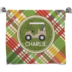 Golfer's Plaid Full Print Bath Towel (Personalized)