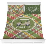 Golfer's Plaid Comforters (Personalized)