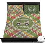 Golfer's Plaid Duvet Covers (Personalized)