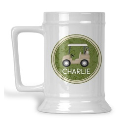 Golfer's Plaid Beer Stein (Personalized)