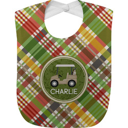 Golfer's Plaid Baby Bib (Personalized)