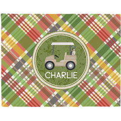Golfer's Plaid Placemat (Fabric) (Personalized)