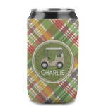 Golfer's Plaid Can Sleeve (12 oz) (Personalized)