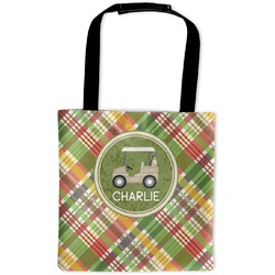 Golfer's Plaid Auto Back Seat Organizer Bag (Personalized)