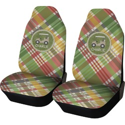Golfer's Plaid Car Seat Covers (Set of Two) (Personalized)