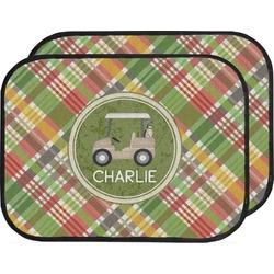 Golfer's Plaid Car Floor Mats (Back Seat) (Personalized)