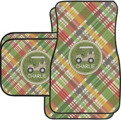 Golfer's Plaid Car Floor Mats (Personalized)