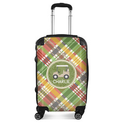 Golfer's Plaid Suitcase (Personalized)