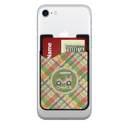 Golfer's Plaid Cell Phone Credit Card Holder (Personalized)