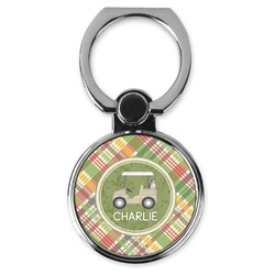 Golfer's Plaid Cell Phone Ring Stand & Holder (Personalized)