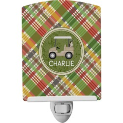 Golfer's Plaid Ceramic Night Light (Personalized)