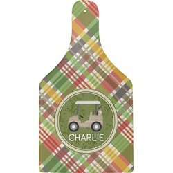 Golfer's Plaid Cheese Board (Personalized)