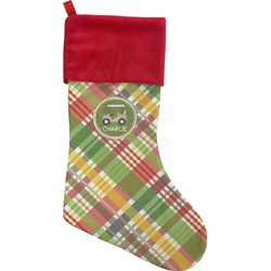 Golfer's Plaid Christmas Stocking (Personalized)