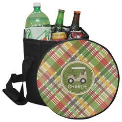 Golfer's Plaid Collapsible Cooler & Seat (Personalized)