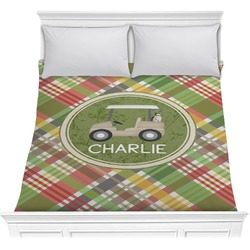 Golfer's Plaid Comforter (Personalized)