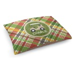 Golfer's Plaid Dog Bed (Personalized)