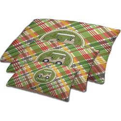 Golfer's Plaid Dog Bed w/ Name or Text