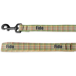Golfer's Plaid Deluxe Dog Leash - 4 ft (Personalized)