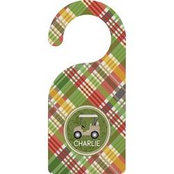 Golfer's Plaid Door Hanger (Personalized)