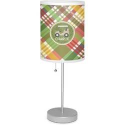 """Golfer's Plaid 7"""" Drum Lamp with Shade (Personalized)"""