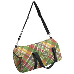 Golfer's Plaid Duffel Bag (Personalized)