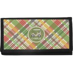 Golfer's Plaid Canvas Checkbook Cover (Personalized)