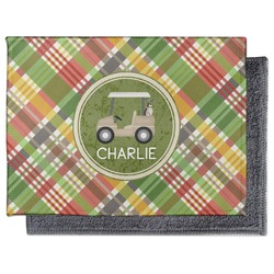 Golfer's Plaid Microfiber Screen Cleaner (Personalized)