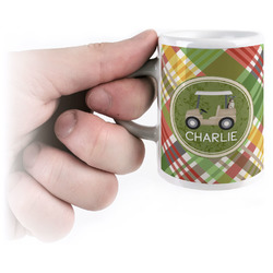 Golfer's Plaid Espresso Cups (Personalized)