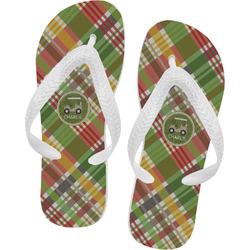 Golfer's Plaid Flip Flops (Personalized)