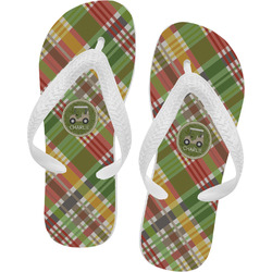 Golfer's Plaid Flip Flops (Personalized)